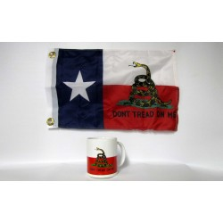 Texas Gadsden Coffee Mug - Don't Tread On Me