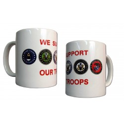 We Support Our Troops Coffee Mug