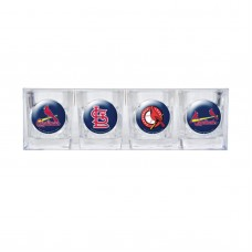 St. Louis Cardinals 4 pc Shot Glass Set