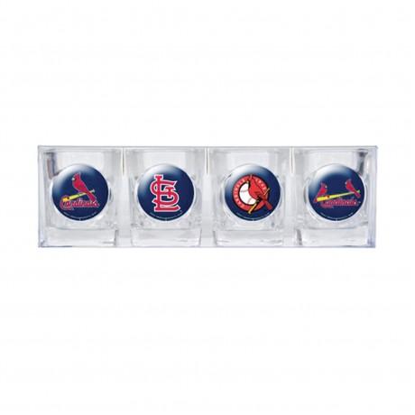 St. Louis Cardinals 4 pc Shot Glass Set