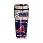 Atlanta Braves Travel Mug 16oz Tumbler with Logo