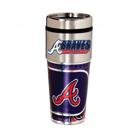 Atlanta Braves Travel Mug 16oz Tumbler with Logo