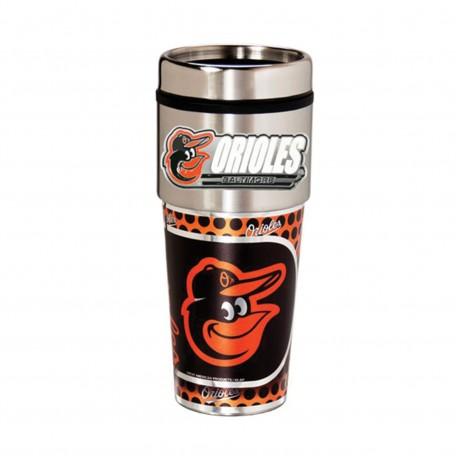 Baltimore Orioles Travel Mug 16oz Tumbler with Logo