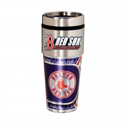 Boston Red Sox Travel Mug 16oz Tumbler with Logo