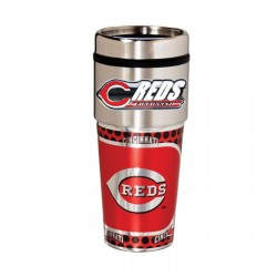 Cincinnati Reds Travel Mug 16oz Tumbler with Logo