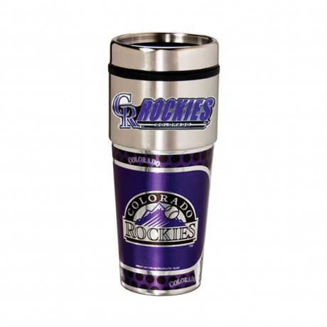 Colorado Rockies Travel Mug 16oz Tumbler with Logo