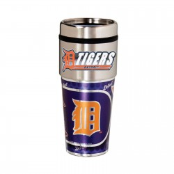 Detroit Tigers Travel Mug 16oz Tumbler with Logo