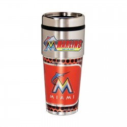 Miami Florida Marlins Travel Mug 16oz Tumbler with Logo
