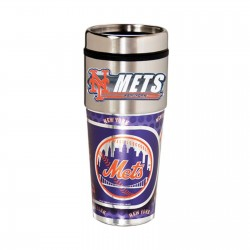 New York Mets Travel Mug 16oz Tumbler with Logo