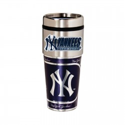 New York Yankees Travel Mug 16oz Tumbler with Logo