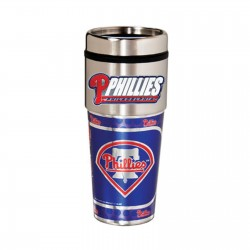 Philadelphia Phillies Travel Mug 16oz Tumbler with Logo