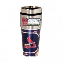 St. Louis Cardinals Travel Mug 16oz Tumbler with Logo