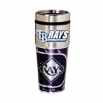 Tampa Bay Rays Travel Mug 16oz Tumbler with Logo