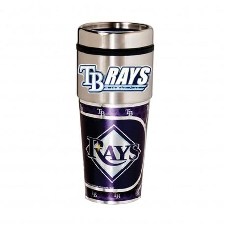 Tampa Bay Rays Travel Mug 16oz Tumbler with Logo