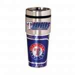 Texas Rangers Travel Mug 16oz Tumbler with Logo