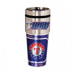 Texas Rangers Travel Mug 16oz Tumbler with Logo