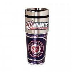Washington Nationals Travel Mug 16oz Tumbler with Logo