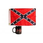 Waving Rebel Crossed Flags Coffee Mug