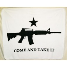 Come And Take it Carbine Polar Fleece Throw/Blanket