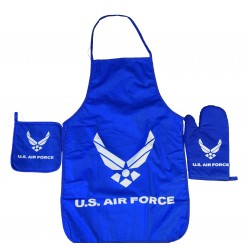 United States Air Force Apron & Oven Mitt Set