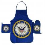 United States Navy Apron & Oven Mitt Set