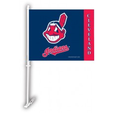 Cleveland Indians Two Sided Car Flag