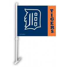 Detroit Tigers Two Sided Car Flag