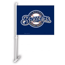 Milwaukee Brewers Two Sided Car Flag