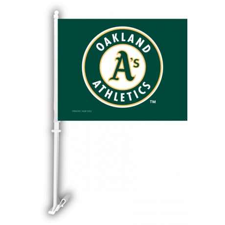 Oakland Athletics Two Sided Car Flag
