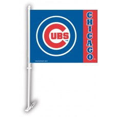 Chicago Cubs Two Sided Car Flag