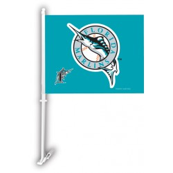 Miami Florida Marlins Two Sided Car Flag