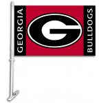 Georgia Bulldogs 11-inch by 18-inch Two Sided Car Flag