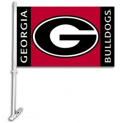 Georgia Bulldogs 11-inch by 18-inch Two Sided Car Flag
