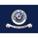 United States Navy Retired 3' x 4' Nylon Flag