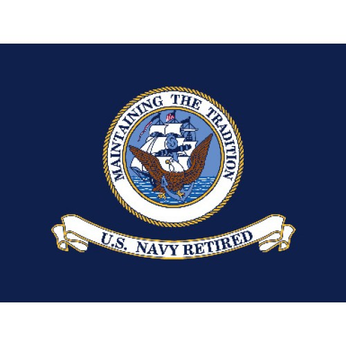 United States Navy Retired 3 X 4 Nylon Flag F 1950 By Www