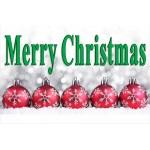 Merry Christmas 2' x 3' Vinyl Banner