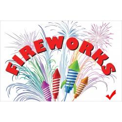 Fireworks Rockets 2' x 3' Vinyl Business Banner
