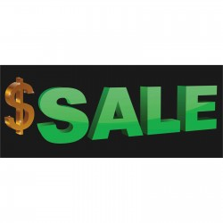 Large Dollar Sign Sale 2.5' x 6' Vinyl Business Banner