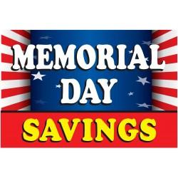 Memorial Day Savings Flag 2' x 3' Vinyl Business Banner