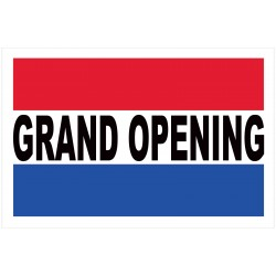 Grand Opening Patriotic 2' x 3' Vinyl Business Banner