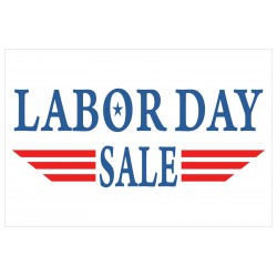 Labor Day Sale 2' x 3' Vinyl Business Banner