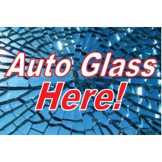 Auto Glass 2' x 3' Vinyl Business Banner