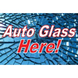 Auto Glass Here 2' x 3' Vinyl Business Banner