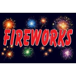 Fireworks Night 2' x 3' Vinyl Business Banner