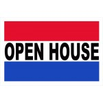 Open House 2' x 3' Vinyl Business Banner