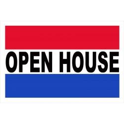 Open House 2' x 3' Vinyl Business Banner