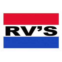 RV's 2' x 3' Vinyl Business Banner