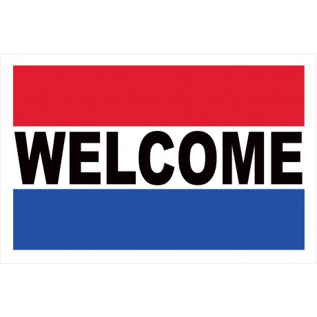Welcome 2' x 3' Vinyl Business Banner