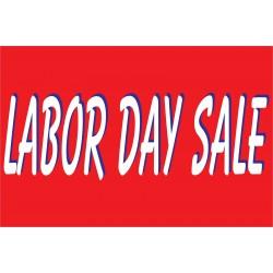 Labor Day Sale Red & White 2' x 3' Vinyl Business Banner