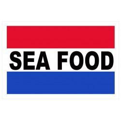 Seafood Patriotic 2' x 3' Vinyl Business Banner